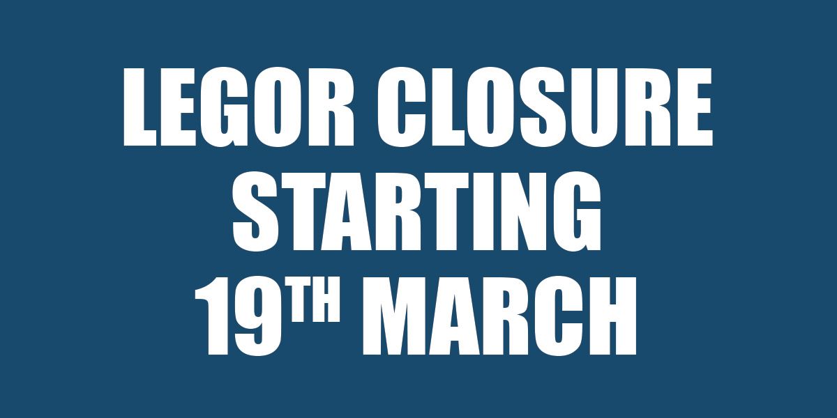 Company closure starting Thursday 19th March